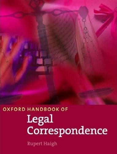 Oxford Handbook of Legal Correspondence Student's Book