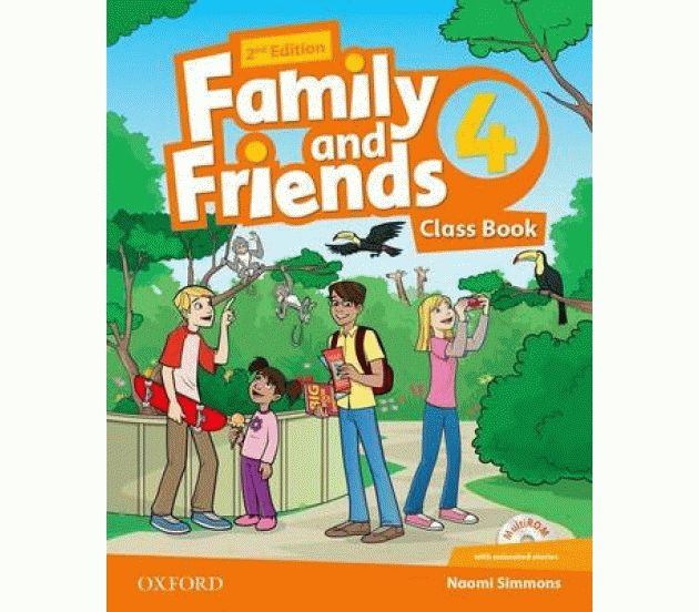 Family and Friends 4 2nd ed Class Book and MultiROM Pack