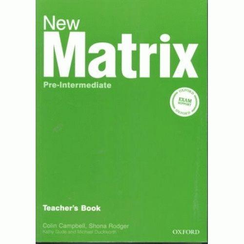 Matrix New Pre-intermediate Teacher's Book
