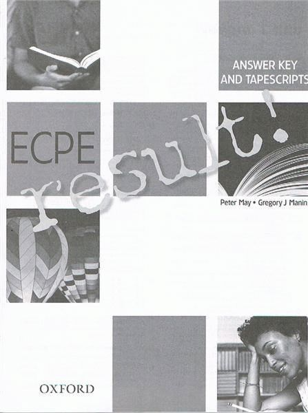 ECPE result! Answer Key & Tapescripts
