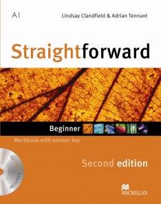 Straightforward Second Edition Beginner Workbook + Key + CD