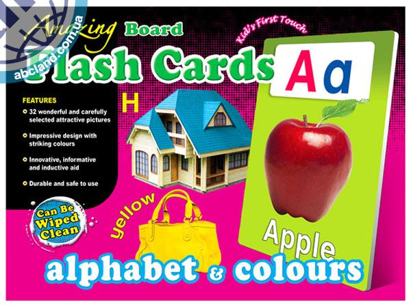 Набір наглядник карток Amazing Board Medium Flash Cards Alphabet and Colours