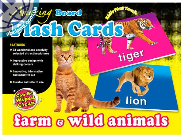 Набір наглядник карток Amazing Board Medium Flash Cards Farm and Wild Animals