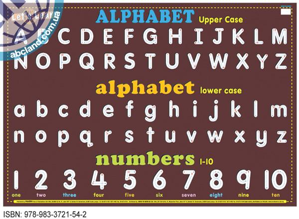 Плакат Education Charts Let's Learn Alphabet