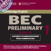 Cambridge BEC 1 Preliminary Audio CD