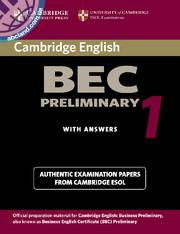 Cambridge BEC 1 Preliminary SB + CD + key