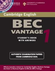 Cambridge BEC 1 Vantage SB + CD + key