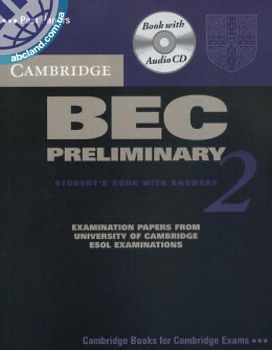 Cambridge BEC 2 Preliminary SB + CD + key