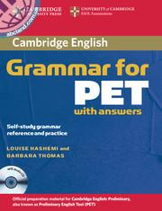 Cambridge Grammar for PET + CD + key