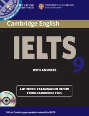 Cambridge IELTS 9 Student's Book + key + Audio CDs