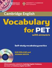 Cambridge Vocabulary for PET + CD + key