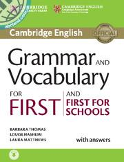 Grammar and Vocabulary for First and First for Schools + CD + key