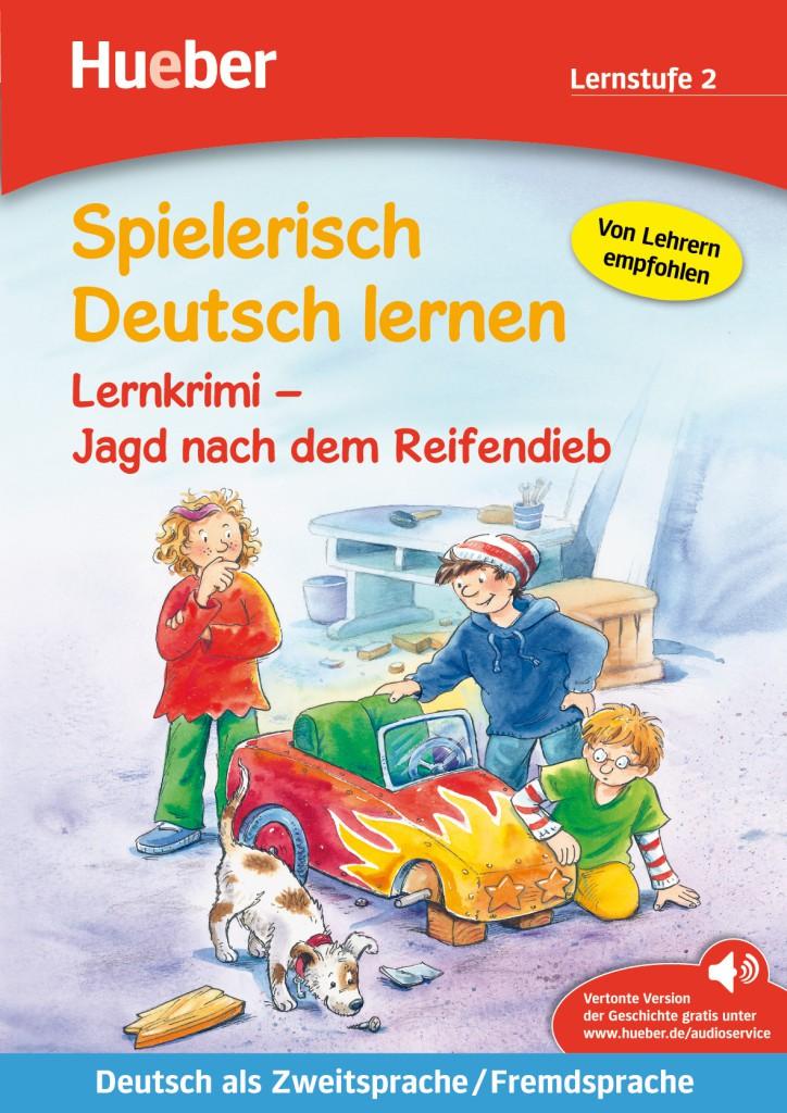 Lernkrimi – Jagd nach dem Reifendieb. Buch mit MP3-Download