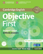 Objective First 4th Edition SB w/o key + CD-ROM