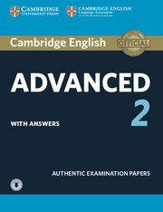 Cambridge English Advanced 2 Student's Book + Downloadable audio + key