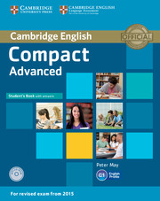 Compact Advanced Student's Book + key + CD-ROM