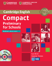 Compact Preliminary for Schools Workbook without key + Audio CD
