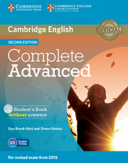 Complete Advanced 2nd Edition Student's Book without key + CD-ROM
