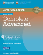 Complete Advanced 2nd Edition Teacher's Book + Teacher's Resources CD-ROM
