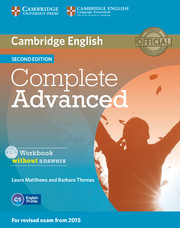 Complete Advanced 2nd Edition Workbook without key + Audio CD
