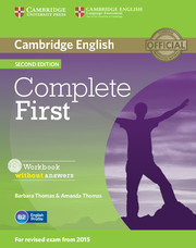 Complete First 2nd Edition Workbook without key + Audio CD