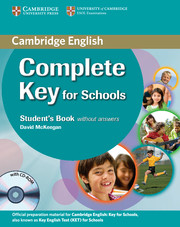 Complete Key for Schools Student's Book without key + CD-ROM