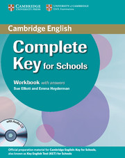 Complete Key for Schools Workbook + key + Audio CD