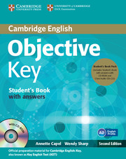 Objective Key 2nd Edition Student's Book + key + CD-ROM + Class Audio CDs