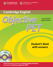 Objective PET 2nd Edition Student's Book + key + CD-ROM