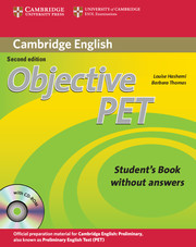 Objective PET 2nd Edition Student's Book without key + CD-ROM