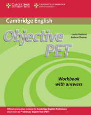 Objective PET 2nd Edition Workbook + key