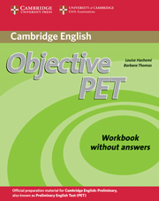Objective PET 2nd Edition Workbook without key
