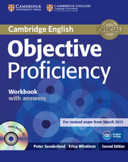 Objective Proficiency 2nd Edition Workbook + key + Audio CD