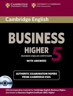 Cambridge English Business 5 Higher SB + key + Audio CD 4