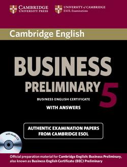 Cambridge English Business 5 Preliminary SB + key + Audio CD
