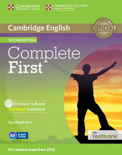 Complete First 2nd Edition SB w/o key + CD-ROM + Testbank