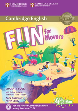 Fun for Movers 4th Edition SB + Downloadable Audio + Online Activities + Home Fun Booklet