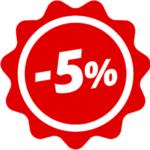 Доверие вознаграждается! Скидка 5%