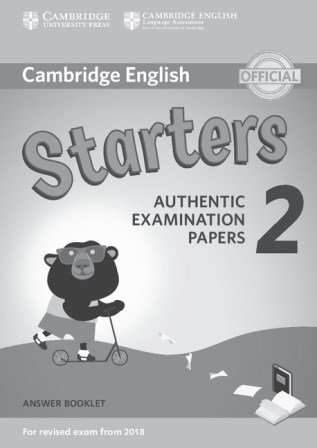 Cambridge English YLE Starters 2 for Revised Exam 2018 Answer Booklet